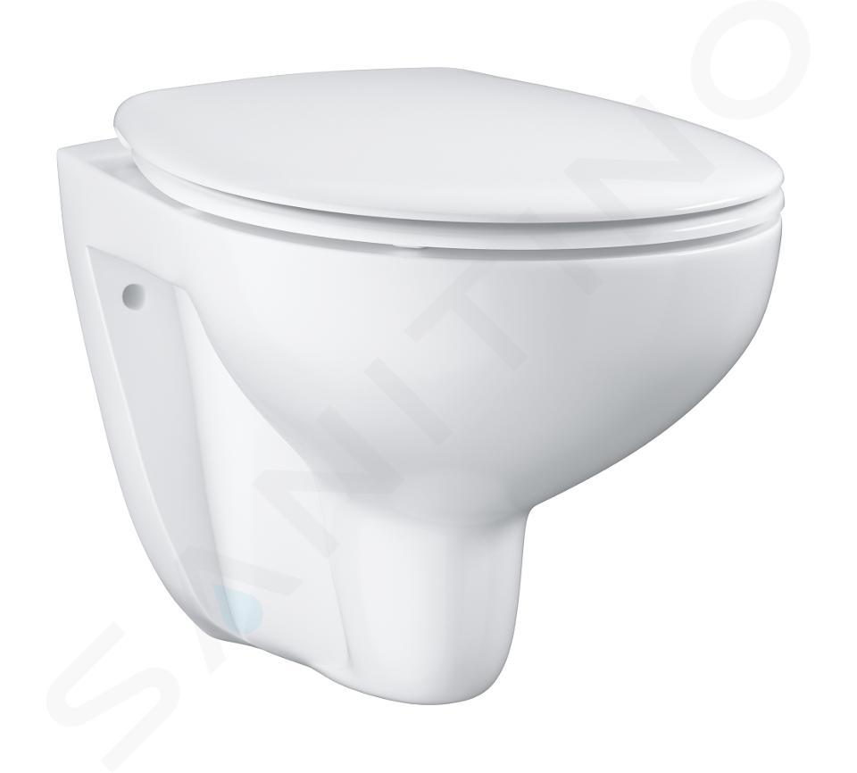 Grohe Bau Ceramic - Wandcloset rimless met Softclose zitting, wit alpine 39351000