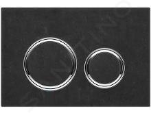 Geberit Sigma21 - Bedieningsplaat, leisteen zwart/ glanzend chroom 115.884.JM.1