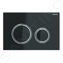 Geberit Sigma21 - Bedieningsplaat, glas zwart/ glanzend chroom 115.884.SJ.1
