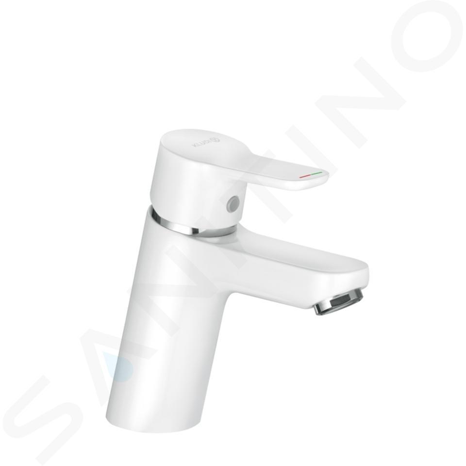 Kludi Pure&Easy - Mitigeur de lavabo, chrome/ blanc 370289165