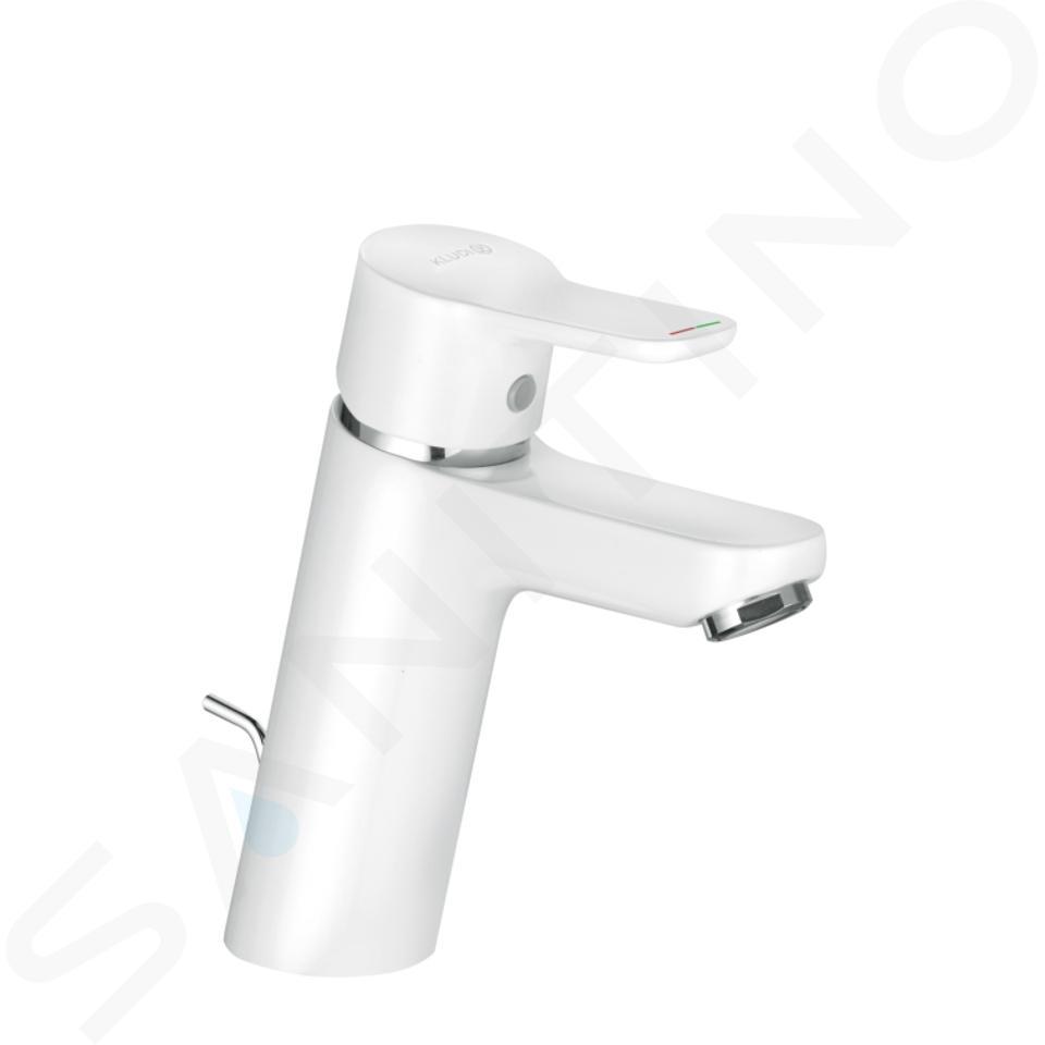 Kludi Pure&Easy - Mitigeur de lavabo avec vidage, chrome/ blanc 372909165