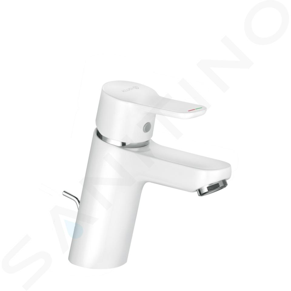 Kludi Pure&Easy - Mitigeur de lavabo avec vidage, chrome/ blanc 373829165