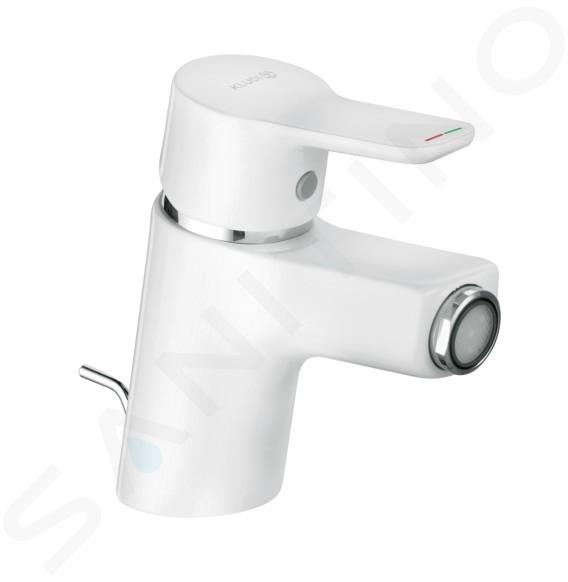 Kludi Pure&Easy - Mitigeur de bidet avec vidage, chrome/ blanc 375339165