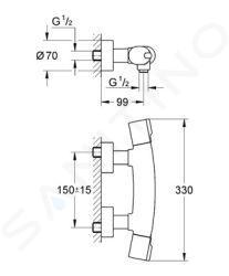 Grohe Tenso - Termostatická sprchová baterie, chrom 34027000