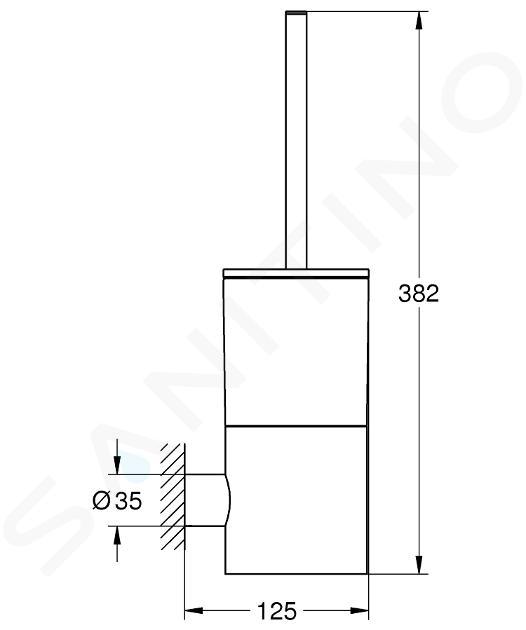 Grohe Atrio - Souprava na čištění toalety, sklo/chrom 40314003