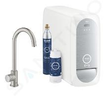 Grohe Blue Home - Spültischventil Mono Connected mit Kühleinheit und Wasserfilter, SuperSteel 31498DC1