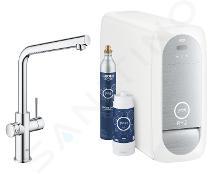 Grohe Blue Home - Miscelatore per lavello, con sistema di filtraggio e raffreddamento, cromato 31454001