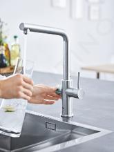 Grohe Blue Home - Spültischarmatur mit Kühleinheit und Wasserfilter, SuperSteel 31454DC1