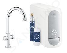 Grohe Blue Home - Miscelatore Connected per lavello, con sistema di filtraggio e raffreddamento, cromato 31455001
