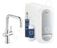 Grohe Blue Home - Miscelatore Connected per lavello, con sistema di filtraggio e raffreddamento, cromato 31456001