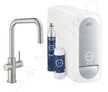 Grohe Blue Home - Mitigeur d'évier Connected, avec unité réfrigérante et filtration, supersteel 31543DC0