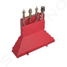 Axor Inbouwdelen - Basisgarnituur voor 4-gats badrandcombinatie 15480180