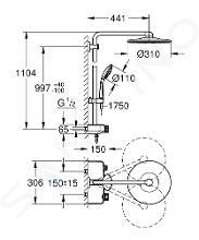 Grohe Euphoria SmartControl - Sprchový set 310 Duo s termostatem, měsíční bílá 26507LS0