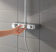 Grohe Euphoria SmartControl - Set doccia Cube 310 con termostato, cromato 26508000