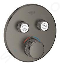 Grohe Grohtherm SmartControl - Afdekset voor douchethermostaat, met 2 omstelkranen voor 2 functies, geborsteld Hard Graphite 29119AL0