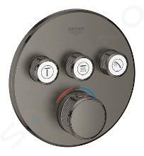 Grohe Grohtherm SmartControl - Afdekset voor douchethermostaat, met 3 omstelkranen voor 3 functies, geborsteld Hard Graphite 29121AL0