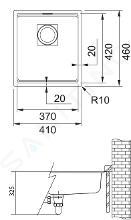 Franke Kubus 2 - Fragraniet spoelbak KNG 110-37, 410x460 mm, cashmere 125.0512.450