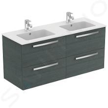 Ideal Standard Tempo - Meuble sous double vasque 1200 mm, chêne clair grisé E0539SG