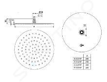 Ideal Standard Idealrain - Douche de tête LUXE, diamètre 300 mm, inox B0385MY