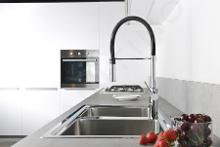 Paffoni Light - Keukenkraan met uittrekbare handdouche, chroom/zwart mat LIG179CRNO
