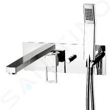 Paffoni Effe - Inbouw badkraan met accessoires en inbouwdeel, chroom EF001CR