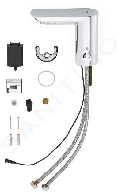 Grohe Bau Cosmopolitan E - Elektronische wastafelkraan met infrarood en menging met batterij 6V, chroom 36451000
