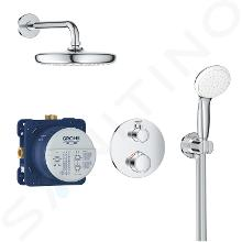 Grohe Grohtherm - Set de douche Tempesta 210 avec robinet de douche thermostatique encastré, chrom 34727000