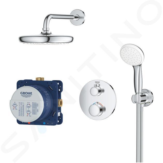 Grohe Grohtherm - Set doccia termostatico ad incasso Tempesta 210, cromato 34727000