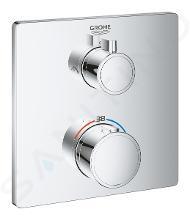 Grohe Grohtherm - Mitigeur thermostatique de douche encastré pour 2 sorties, chrome 24079000