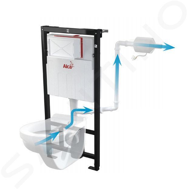 Alca plast WC příslušenství - Ventilátor pro předstěnové instalační systémy s odvětráváním P128