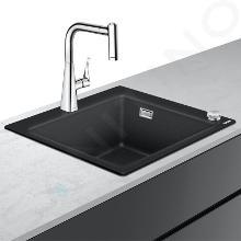 Hansgrohe Lavelli - Set lavello e miscelatore C51-F450-01 Select, grafite nera/cromo 43212000
