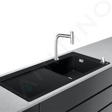 Hansgrohe Lavelli - Set lavello e miscelatore C51-F450-08, grafite nera/cromo 43219000