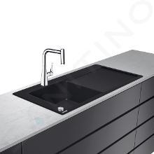 Hansgrohe Éviers - Ensemble évier et mitigeur C51-F450-11 Select, graphite noir/chrome 43227000