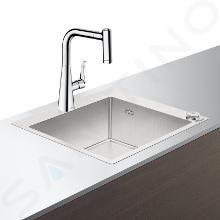 Hansgrohe Abwäschen - Set - Spültisch + Spültischarmatur C71-F450-01 Select, verchromt 43207000