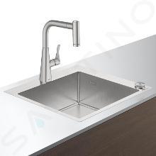 Hansgrohe Spoelbakken - Spoelbakset C71-F450-01 Select spoelbak+keukenkraan, roestvrij staal 43207800
