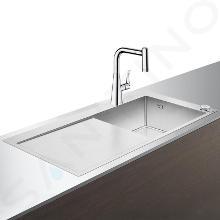 Hansgrohe Spoelbakken - Spoelbakset C71-F450-02 Select spoelbak+keukenkraan, chroom 43208000