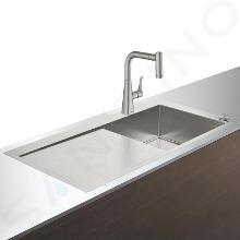 Hansgrohe Abwäschen - Küchenset - Spültisch + Spültischarmatur C71-F450-02 Select, Edelstahl 43208800