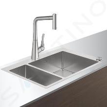 Hansgrohe Abwäschen - Küchenset - Spültisch + Spültischarmatur C71-F655-04 Select, Edelstahl 43210800