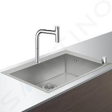 Hansgrohe Abwäschen - Küchenset - Spültisch + Spültischarmatur C71-F660-08, verchromt 43202000