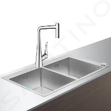 Hansgrohe Abwäschen - Küchenset - Spültisch + Spültischarmatur C71-F765-05 Select, verchromt 43211000