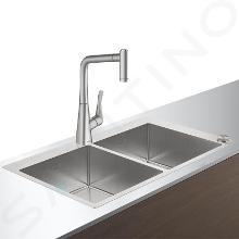 Hansgrohe Abwäschen - Küchenset - Spültisch + Spültischarmatur C71-F765-05 Select, Edelstahl 43211800