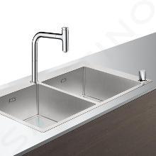 Hansgrohe Abwäschen - Küchenset - Spültisch + Spültischarmatur C71-F765-10, verchromt 43203000
