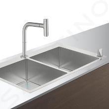 Hansgrohe Abwäschen - Küchenset - Spültisch + Spültischarmatur C71-F765-10, Edelstahl 43203800