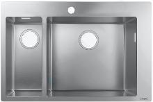 Hansgrohe Spoelbakken - Inbouwspoelbak S711-F655, roestvrij staal 43309800