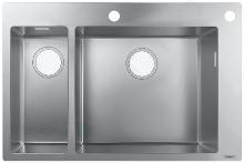 Hansgrohe Lavelli - Lavello ad incasso S712-F655, acciaio inox 43310800