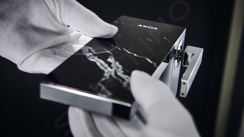 Axor MyEdition - Afdekplaat 200 mm, zwart marmer 47913000