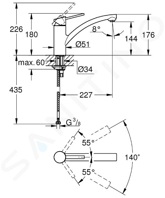 Grohe Swift - Miscelatore da lavello, cromato 30358000