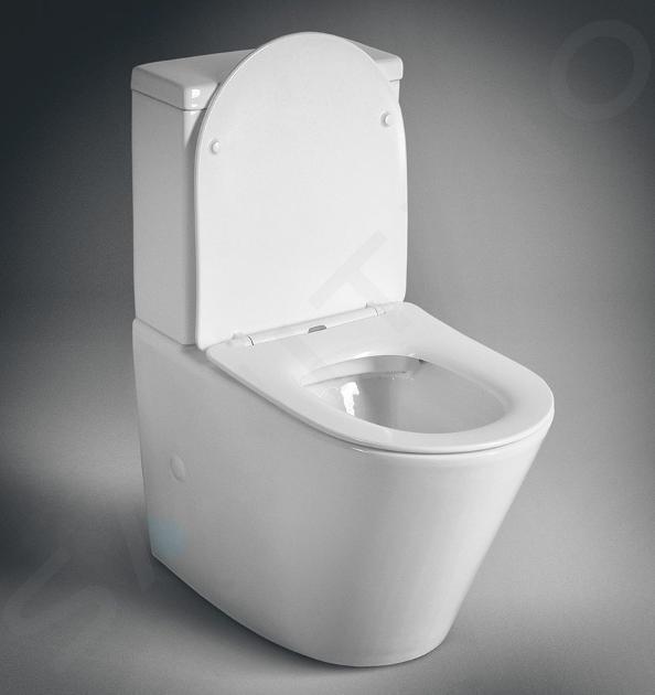 Sapho Keramika - WC kombi Paco, Rimless, Soft Close, bílá PC1012R