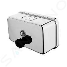 Nimco Hygienický program - Nástenný zásobník tekutého mydla, 1100 ml, leštená nehrdzavejúca oceľ HP 8131-H-18