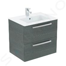 Ideal Standard Tempo - Skrinka s umývadlom 610x450 mm, dekor sivý dub K2979SG